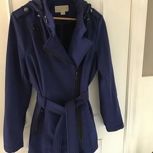Michael Kors Asymmetrical Zip Front Jacket Size L